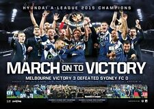 2015 A-League PREMIERS Melbourne Victory CHAMPIONS L/E Official Print Unframed