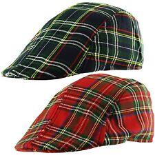 Scottish Tartan Check Country Check Baker Boy Golf Newsboy Ivy Cabbie Flat Cap