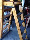 A-Frame Above Ground Pool Ladder  (Varnished Wood 2x4)