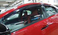 Rain Window Visor Wind Shield fit 2013-2016 Honda Civic 5Dr Hatchback Type R FK2