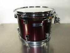 "Taye Drums Rack Tom - 13 X 10"" - Metallic maroon - Poplar Shell - W/ Mount"