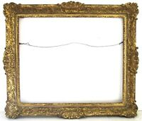 ANTIQUE 19C  MUSEUM QUALITY GILT FRAME FOR PAINTING 22 1/2 X18 1/2 INCH (g-6)