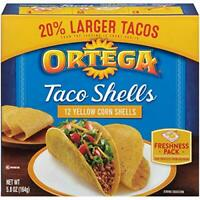 Ortega Taco Shells, Yellow Corn, 12 Count