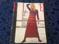 ELLE FRANCE Rivista Magazine 24 Novembre 1966 n.1092 B. Bardot Sylvie Vartan