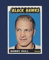 1965-66 Topps BOBBY HULL #59 (Ex+/Exmt) Chicago Back Hawks *Centered* NICE !