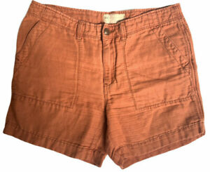 Free People Size 6 Orange Cargo Loose Shorts
