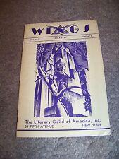 May 1931 WINGS The Literary Guild of America FERDYNAND GOETEL Carl Van Doren