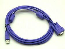10Ft Female DB9 Serial to Male USB Adapter Converter Cable Wire, Purple