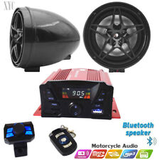 12V Motorcycle Bluetooth Anti-Theft Speakers USB Audio FM Radio System Stereo