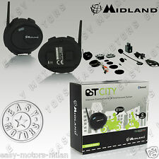 INTERPHONE INTERCOM MIDLAND BT CITY MOTO BLUETOOTH POUR TOUS LES CASQUES