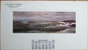Guntown, MS 1908 Lumber Advertising Calendar: J. Allen Littrell-Mississippi Miss