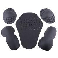 Moto Equitation Épaule Coude Dos Protection Pad Racing Armure Noir 5 pcs de