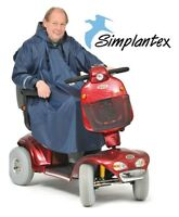 Mobility Poncho With Sleeves - Wheelchair & Scooter Clothing - Waterproof .