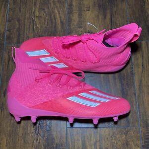 Adidas Adizero Primeknit Football Cleats Men's Size 11.5 Team Shock Pink EH3418