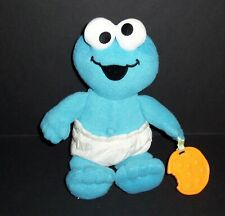 Fisher Price 2005 Cookie Monster Sesame Street Plush Diaper Teether Stuffed Toy