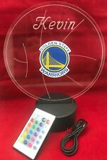 Golden State Warriors NBA Basketball Light Up Lamp LED, Remote Personalized Free