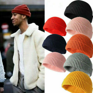 New Original Women Men Acrylic Watch Hat Beanie Winter Warm Hat Cap