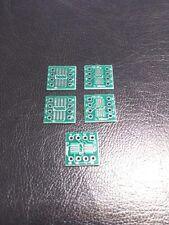 5 PACK - 4/6/8 Pin DIP SO, SOP, SOIC, SSOP, TSSOP, MSOP Adapter PCB Boad