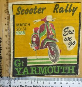 Scooter Rally Patch 1986 Gt Yarmouth Original