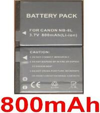 Batterie 800mAh type NB-8L NB8L Pour Canon PowerShot A3300 IS
