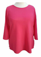 Womens  Tunic Top 3/4 sleeves Fuscia Plus sizes 16-18/20-22/24-26/28-30/32-34/36