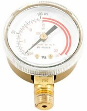 Forney 87730 Acetylene Gauge, Low Pressure, 2-Inch-by-1/4-Inch NPT, 0-30 PSI
