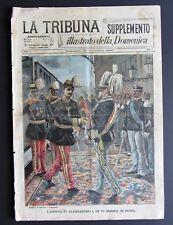 1896 RE SERBIA ALESSANDRO OBRENOVICH firma trattato pace Negus Menelik Nerazzini