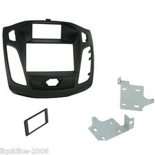 CT23FD28 FORD FOCUS 2011 ONWARDS BLACK DOUBLE DIN FACIA ADAPTER PANEL PLATE
