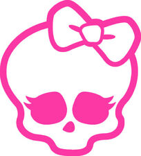 monster high, bright pink, wall art decal sticker, walls mirror door laptop, uk