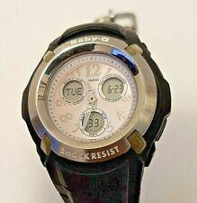 Casio Baby-G Black Silver Pinkish Analog Digital Chrono Watch BG-191 New battery