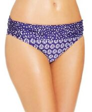 La Blanca Bikini Sz 14 Iris Blue Hipster Shirred Side Swimwear Bikini Bottom