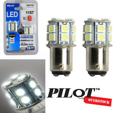 Pilot Automotive 1157 White LED Light Bulbs pack of 8 - US SELLER with Warranty