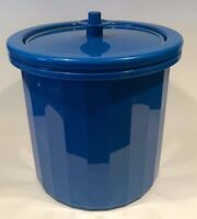 Vintage Royal Blue Tupperware Ice Bucket #1683 3 pieces  - Gently used