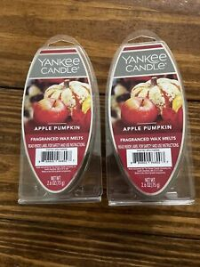 YANKEE CANDLE 2 Packs Apple Pumpkin Scented Fragranced Wax Melts NEW