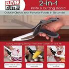 Practical Clever Cutter 2-in-1 Knife Cutting Board Scissors As Seen On TV DHUS