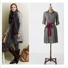 Anthropologie Isabella Sinclair Refined Rugby Dress shirtdress pleated