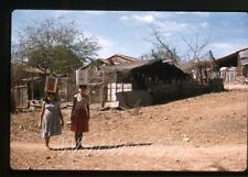 1962 Kodachrome photo slide  Mexico ladies carrying water