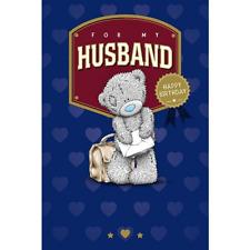 Me to You Tatty Teddy Husband Birthday Card Blue