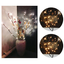 77CM 20LED Branch Lamp Fairy String Light Tree Twig Floral Flower Vase Decor JA