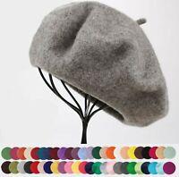 NEW Women Lady Wool blend Winter Warm French Artist Round Beret hat Cap Beanie