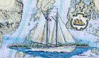 Schooner Bowdoin map print Maine Maritime Academy Castine Tall Sailing Ship Gift