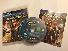 PLAYSTATION 3 PS3 GAME IL SIGNORE DEGLI ANELLI Aragorn's Quest IN SCATOLA COMPLETO PAL