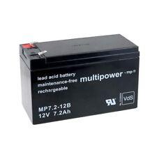 Powery Ersatzakku für USV APC Back-UPS BK350EI 12V 7,2Ah/86Wh Lead-Acid Schwarz