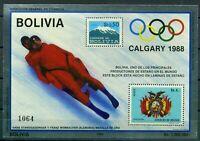 Bolivien MiNr. Block 156 postfrisch MNH Olympiade 1988 Calgary (Oly156