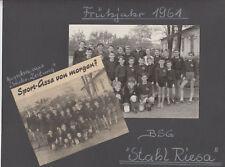 Riesa 1961 ! Foto Fußball BSG Stahl Riesa Mannschaft der Zukunft !!!