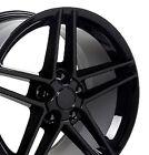 18x9.519x10 Rims Fit C6 Corvette Base - C6 Z06 Style Wheels Black Set Of 4