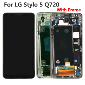 For LG Stylo 5 Q720 LCD Display Touch Screen Digitizer With Frame Replacement