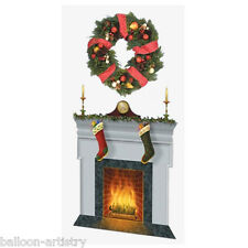Christmas Party Scene Setter Add on FESTIVE FIREPLACE