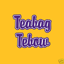 LSU TIGERS TEABAG TEBOW RIVALRY TSHIRT COLLEGE SEC SALE