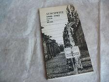 AUSCHWITZ 1940-1945 GUIDE DE MUSEE 1974 5a EDITION DU MUSEE D'ETAT A OSWIECIM